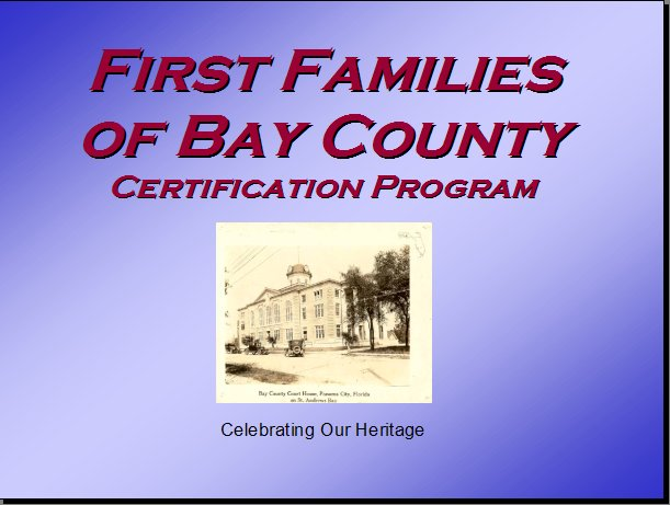 Bay County, Florida, Pioneers